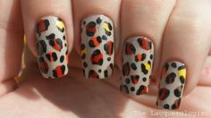 The Lacquerologist: Not My Style Saturday: Fall Leopard Print Mani!!!