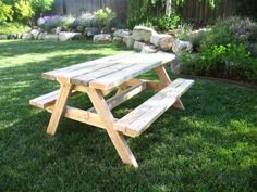 Build a bigger kids picnic table plans ana white large outdoor table large round garden table and chairs Toddler Picnic Table, Picnic Table Kit, Kids Picnic Table Plans, Build A Picnic Table, Wooden Picnic Tables, Folding Picnic Table, Picnic Chairs, Round Garden Table, Wooden Garden Table