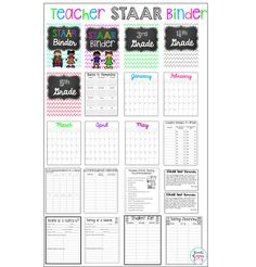 Are you a special education teacher that has students taking the STAAR Test? This binder is for your to help you stay organized this testing season!