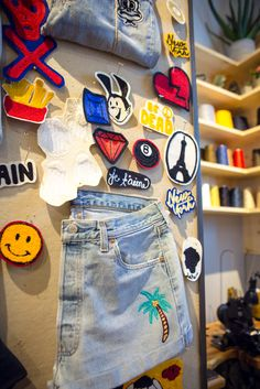 Personalize your jeans at any Levi's Tailor Shop. You can add patches, pins or custom chainstitching to make each pair unique.