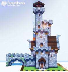 Minecraft Castle Designs, Minecraft Farm, Minecraft Cottage, Cute Minecraft Houses, Minecraft Plans, Minecraft Decorations, Minecraft Construction, Amazing Minecraft, Minecraft Tutorial