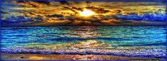 iridescent indigo water ocean waves