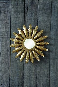 Creative Co-op Round Gold Metal Framed Starburst Mirror Gold Starburst Mirror, Starburst Minis, Simply Southern Boutique, Creative Co Op, Antique Farmhouse, Wall Mounted Mirror, Accent Pieces, Room Inspiration, Accent Decor