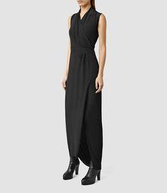 Womens Lani Dress (Black/Black) - product_image_alt_text_2