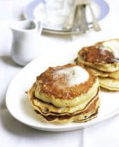 Johnny Cakes- Love these with Kenyon's Gristmill white johnnycake meal and real Vermont maple syrup.