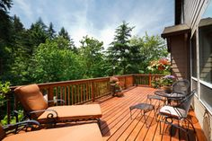 Wood decks provide increased outdoor living area but require periodic maintenance including refinishing. Refinishing a wood deck involves a few steps such as inspection, cleaning and wood brightening, power washing, sanding, staining and sealing. This detailed tutorial will walk you through all the major steps of refinishing your wood deck successfully and beautifully.: So You Want a New Looking Deck?