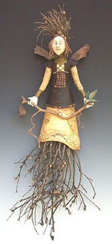Wall Angel with Turned Maple Skirt one bird copyright 2003 Akira Studios all rights reserved