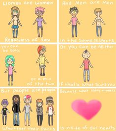 People are butts about gender sometimes! So here is a comic talking about how it really isn't a big deal!