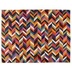 Zara Home Multicoloured Leather Rug