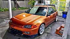 #Honda #Civic #Eg #Hatch #Slammed #Stance #Modified