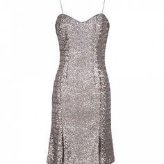 Sequin silver L'wren Scott Collection dress New,no tags. Gorgeous silver sequin ,mermaid style dress L'Wren Scott at Banana Republic Dresses Midi