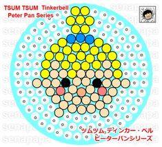 Tinker Bell Tsum Tsum Perler Bead Pattern