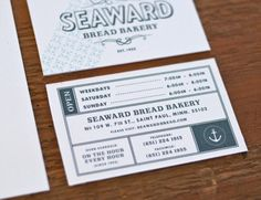 The brand identity for Seaward Bakery pulls in colors of the sea with hand drawn typography to make for a wholesome brand that's approachable. Unfortunately it never saw the light of day, but the work still stands on its own as good design for bakeries and restaurants alike. Designed by Erik Hamline while at Studio on Fire.
