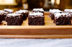 Dark Chocolate Brownies - oh, my goodness! May make these for my sister's birthday...if she can have them during Lent!