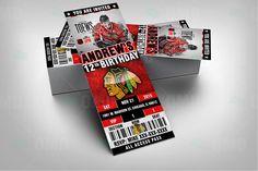 2.5x6 Chicago Blackhawks Hockey Sports Party by sportsinvites
