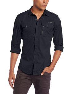 Diesel Men's Siranella-S Shirt, Deep/Black, Medium $128 #Apparel #Diesel