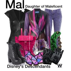 Disney's Descendants by wearwhatyouwatch on Polyvore featuring Witchery, Thierry Mugler, Current/Elliott, Pelcor, Malababa, disney, television and wearwhatyouwatch
