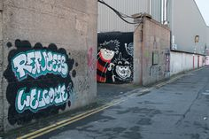 Examples of Street Art At Saint Peters Lane - photographed by William Murphy in January 2017 Using A Sony GM Lens Urban Art, Dublin, Graffiti, Street Art, Neon Signs, Culture, City Art