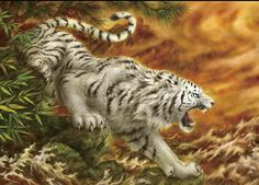 Epoch West God White Tiger -kayomi Harai- Jigsaw Puzzle for sale online Animal Sketches, Animal Drawings, Art Tigre, Aggressive Animals, Watercolor Tiger, Tiger Artwork, Tiger Tattoo Design, Tiger Wallpaper, Tiger Drawing