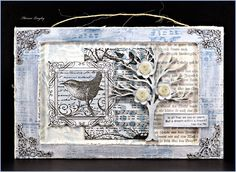 Hanging - made using Crafty Individuals Stamps CI309 and CI361
