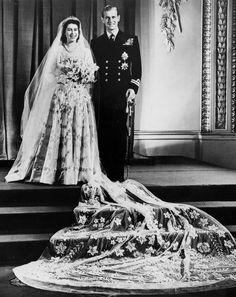 Just like Will and Kate, a young Princess Elizabeth and a handsome Prince Philip brought smiles and celebrations to the nation on their wedding day