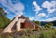 Giant timber pyramid invites park visitors to take in the stunning views of Scotland's Loch Lomond