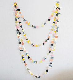 guirlande motifs géométriques