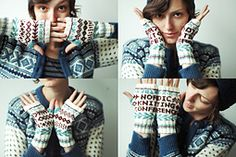 Ravelry: Nordic Knitting Conference Announce-Mitts pattern by Dianna Walla
