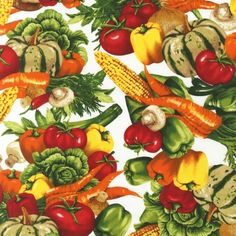AMK-13677-192 SPRING by Mary Lake - Thompson from Kiss The Cook: 100% COTTON Width: 44'' wide Weight: 4.3 oz. per square yard.