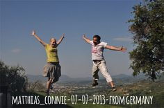 Matthias   07-07-2013 from Germany jump for Forestaria Organic Farm in Lucca, Tuscany