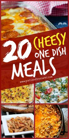 Easy, cheesy one dish meals that will make your family's mouth water and save you time in the kitchen! @alicanwrite