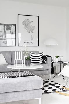 Living room + Scandinavian, black, patterns