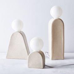 Handmade Denali & Kanamota Table Lamps on Diy Luminaire, Luminaire Vintage, Vintage Lamps, Chandelier Design, Jar Chandelier, Pendant Lamps, Keramik Design, Benjamin Moore Colors, Large Lamps