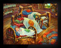 The Story of the Three Bears by Artem Konstantinov, via Behance