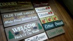 6-24-2015 SDV A few new signs I made last night.  www.etsy.com / shop / uniqueprimtiques #customcolors #customsizes  #woodsign #sign #customsign #rusticdecor #primitivedecor www.uniqueprimtiques.com