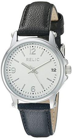 Relic Women's ZR34348 Matilda Analog Display Analog Quartz Black Watch. Case diameter: 29 mm. Case thickness: 9.5 mm. Analog-quartz Movement. Case Diameter: 29mm. Water Resistant To 99 Feet.