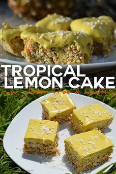 Easy recipe for a raw tropical lemon cake