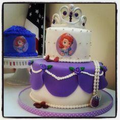 Sofia the first birthday cake and smash cake