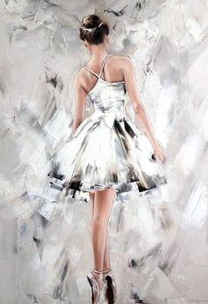 Buy Ballet a Oil on Canva Art Ballet, Ballerina Painting, Ballet Dancers, Ballerinas, Ballet Drawings, Dancing Drawings, Art Drawings, Ballerina Kunst, Dance Paintings