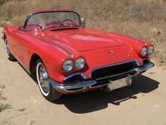 1962 Chevrolet Corvette - Loaded With Chrome Old Corvette, 1962 Corvette, Classic Corvette, Camaro Ss, Chevrolet Corvette, Little Red Corvette, Gm Car, Corvette Convertible, E Type