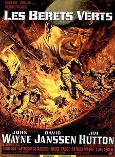 John Wayne - Affiche Les Bérets Verts - 1967