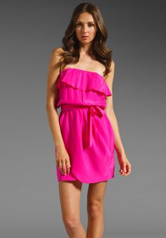 Amanda Uprichard Joan Dress in Hot Pink