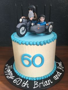 Ural motorbike and sidecar cake for twins