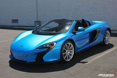 Visit The MACHINE Shop Café... (Best of McLaren @ MACHINE) The Cerulean Blue McLaren MSO 650S Spyder Supercar