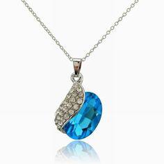 So pretty!♡♡ at https://www.etsy.com/listing/176662883/dazzling-aqua-blue-tear-drop-pendant
