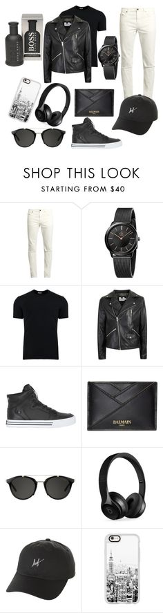 """""""😍"""" by qlhnadiah ❤ liked on Polyvore featuring Yves Saint Laurent, Calvin Klein, Dolce&Gabbana, Topman, Supra, Balmain, Carrera, Beats by Dr. Dre, HUF and Casetify"""