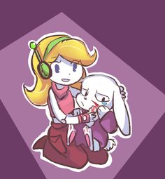 Curly Brace and King | Cave Story
