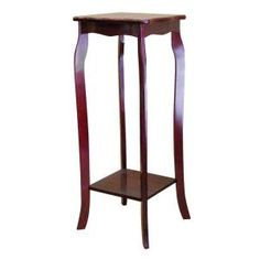 Home Decorators Collection 30 in. H Composite Wood Plant Stand in at The Home Depot Living Furniture, Table Furniture, Telephone Table, Wood Plant Stand, Plant Stands, Bronze Chandelier, End Tables With Storage, Home Furnishings, Indoor