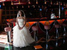 bride in pretty club on ship