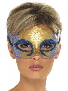 Farfalla Eyemask Black Superhero Robber Mask Womens Mens Fancy Dress Costume